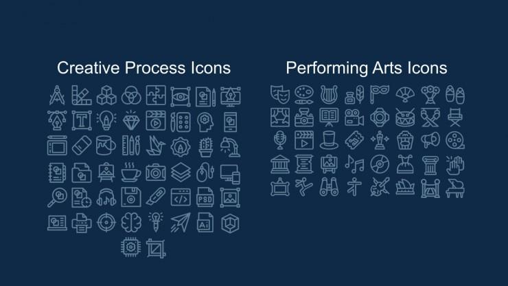 Plan de marketing avec des notes autocollantes à l'aquarelle : Modèles de présentation