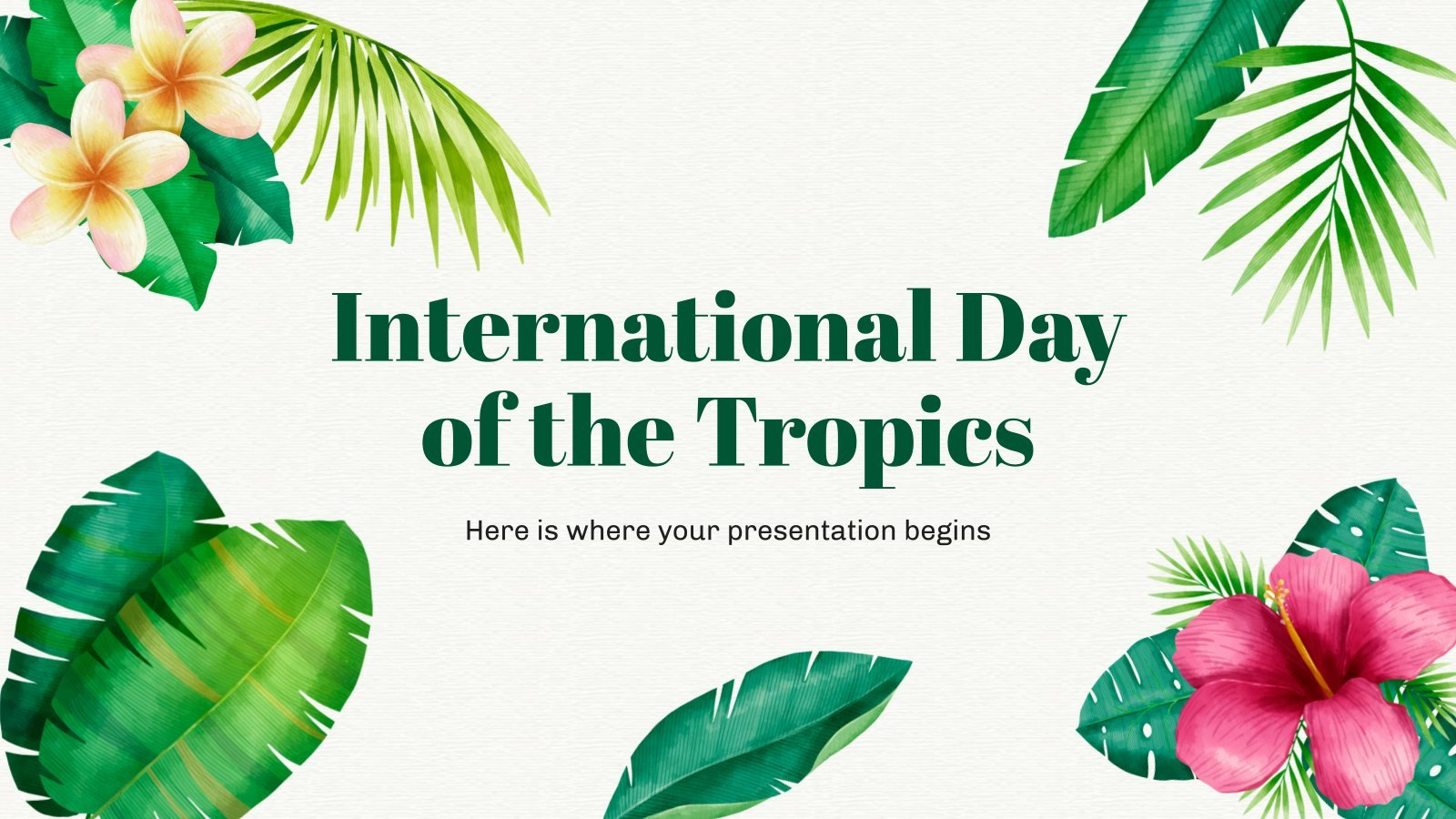Journée internationale des tropiques : Modèles de présentation