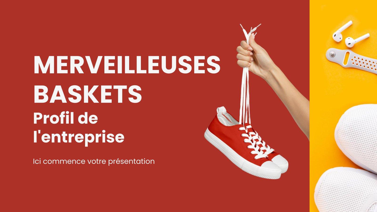 Merveilleuses Baskets - Profil de L'entreprise : Modèles de présentation