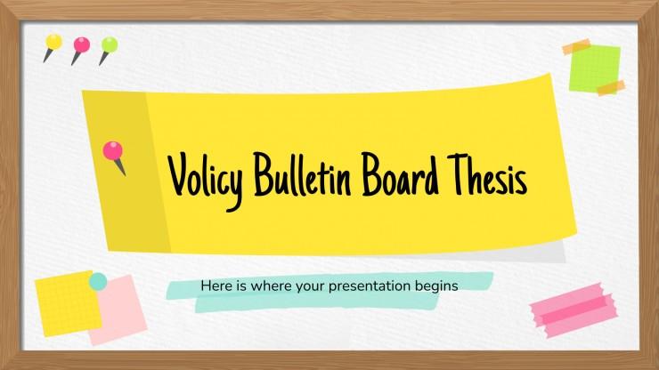 Plantilla de presentación Tablón de anuncios para tesis