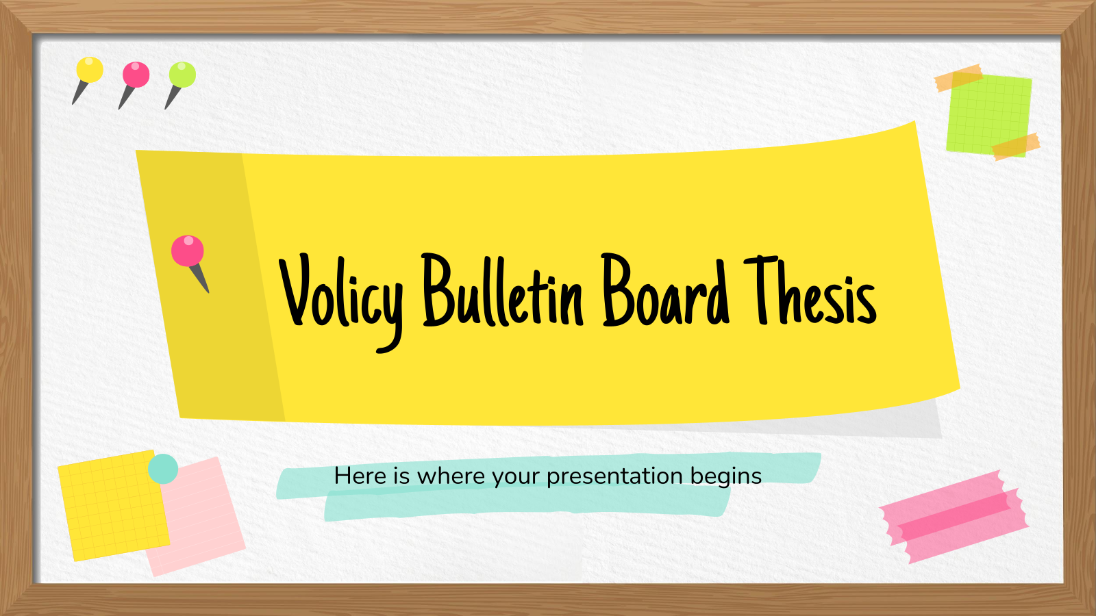 Volicy Bulletin Board Thesis presentation template