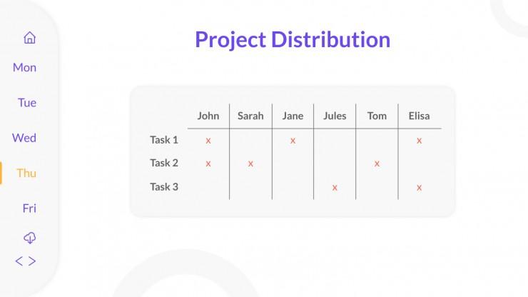 Techie Organization Planner presentation template