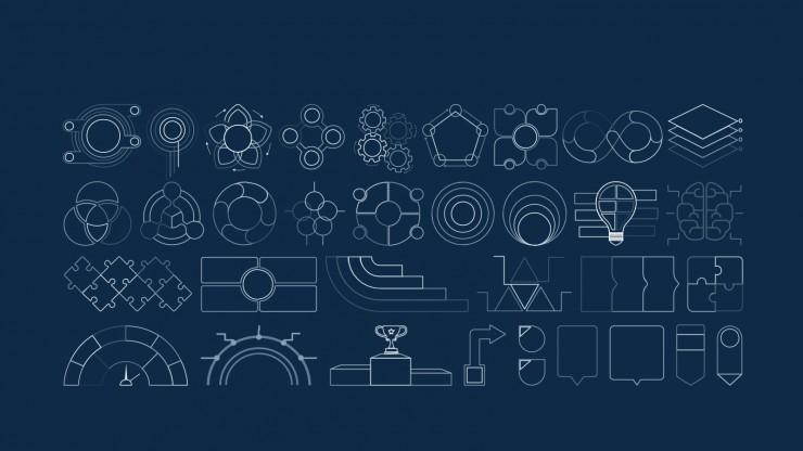 Modelo de apresentação Agenda Techie