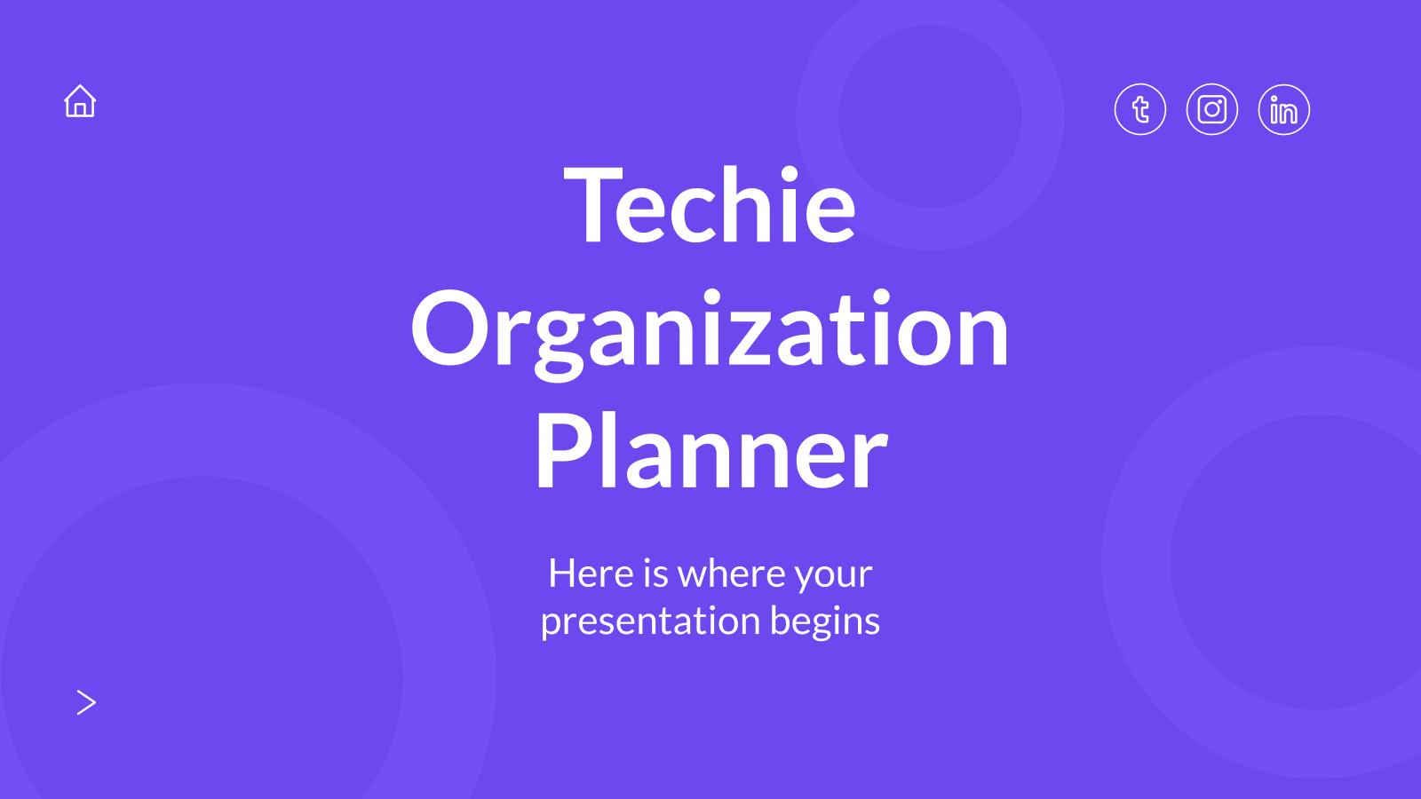 Plantilla de presentación Agenda con diseño tecnológico