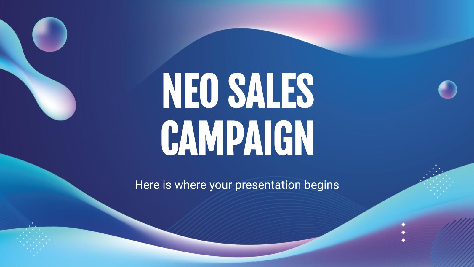 Plantilla de presentación Campaña de ventas Neo
