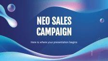 Modelo de apresentação Campanha de vendas Neo