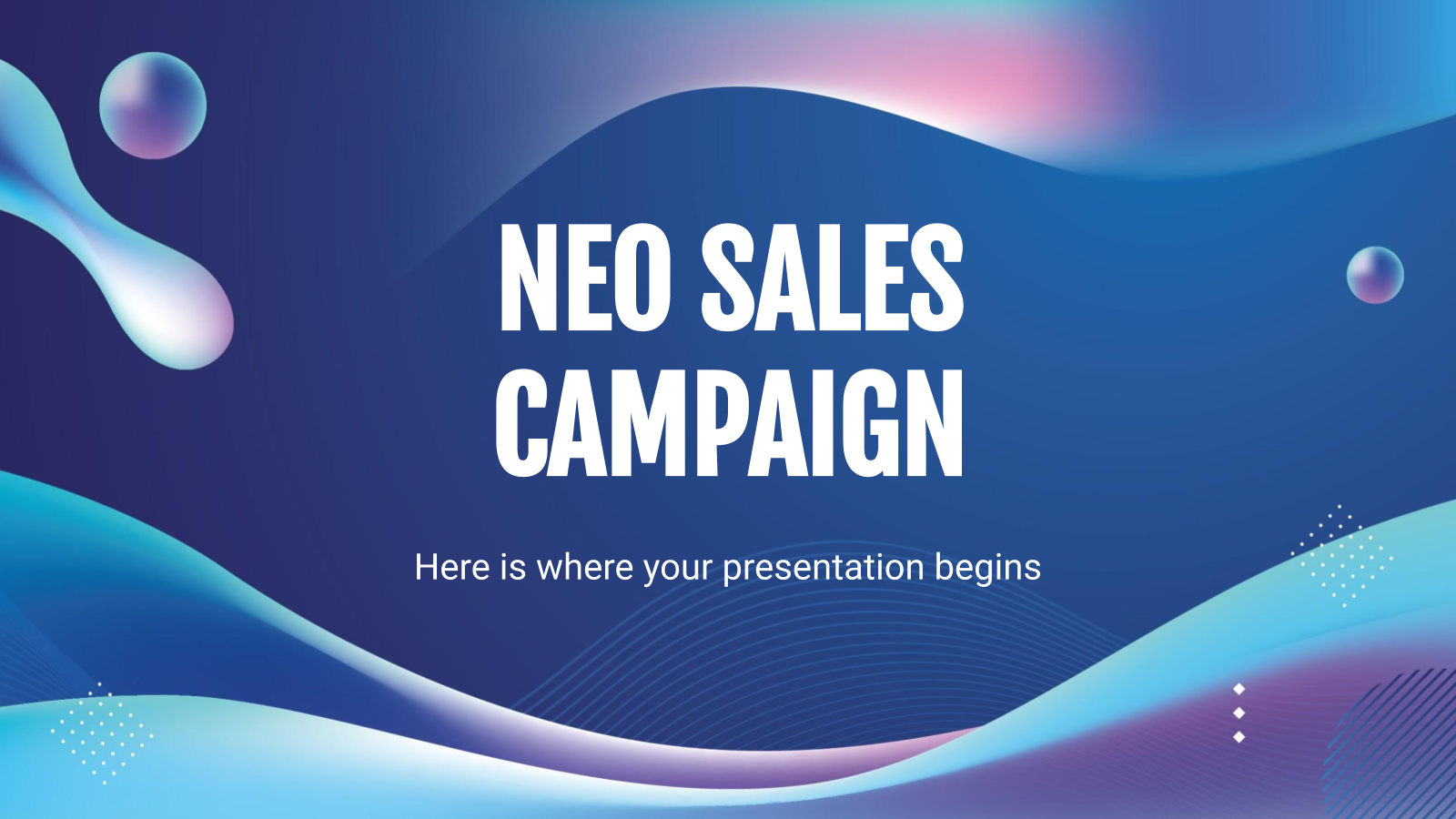 Neo Sales Campaign presentation template