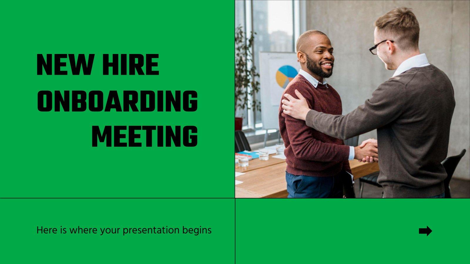 Modelo de apresentação Reunião de novas contratações