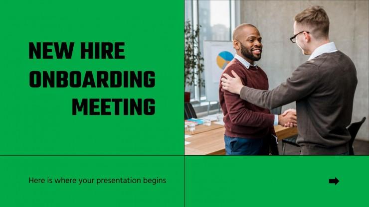 Onboarding Meeting für neue Mitarbeiter Präsentationsvorlage