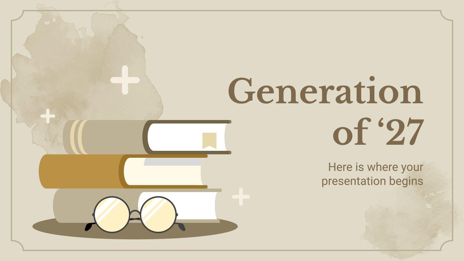 Generation von 27 Präsentationsvorlage