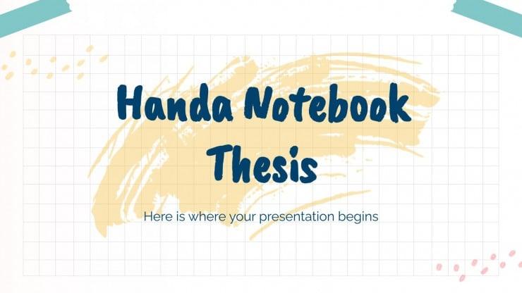 Handa Notizbuch These Präsentationsvorlage
