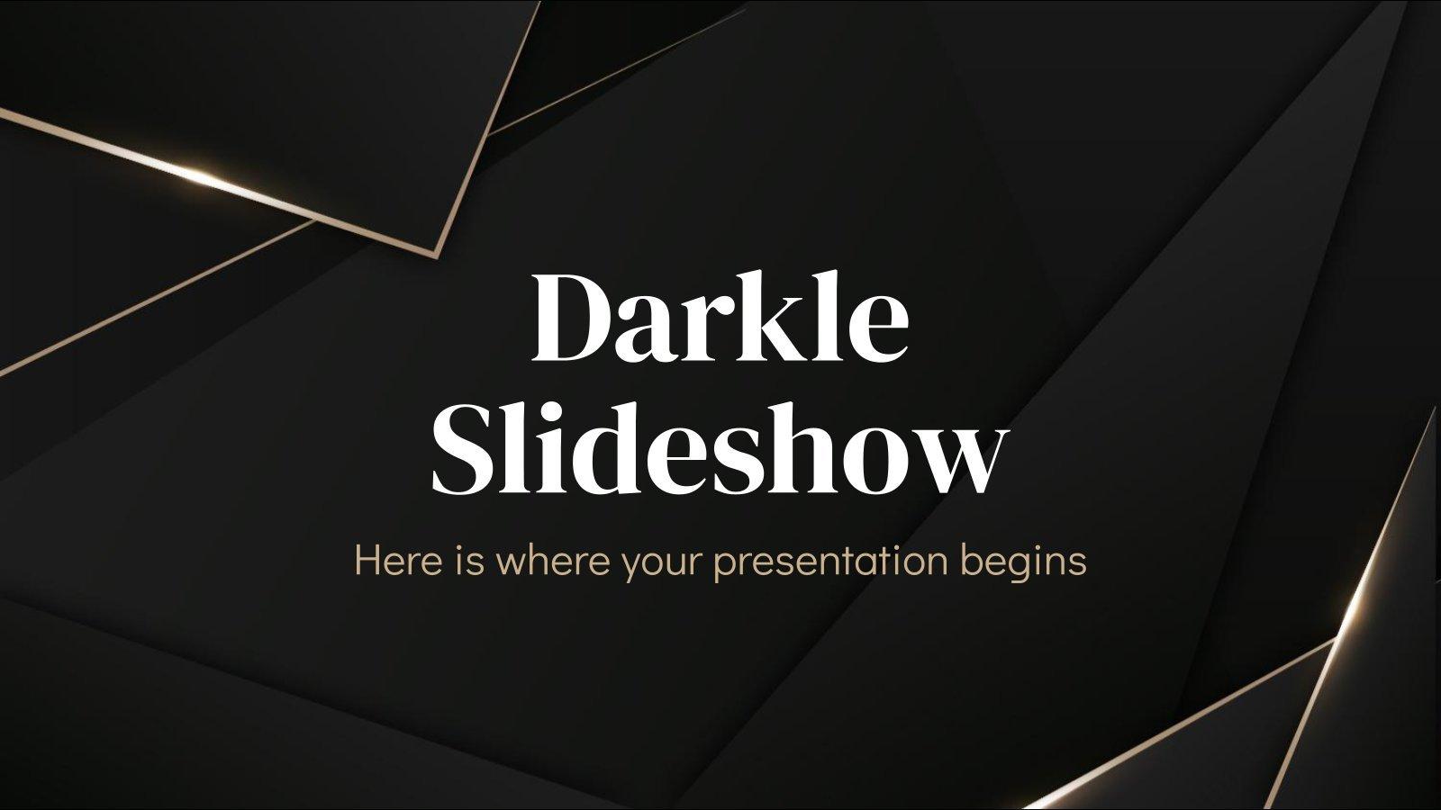 Darkle Slideshow presentation template