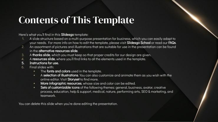 Diaporama Darkle : Modèles de présentation