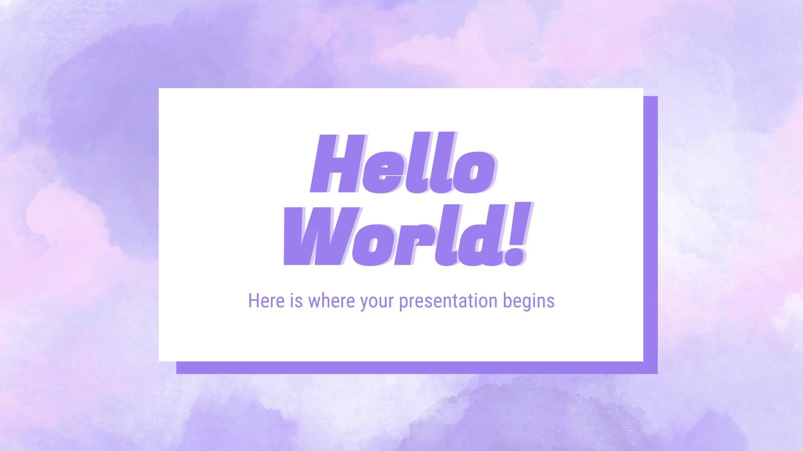 Watercolor Texture presentation template