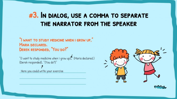 Règles de grammaire de l'anglais : Modèles de présentation