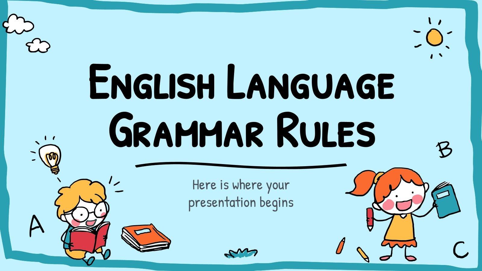 English Language Grammar Rules presentation template