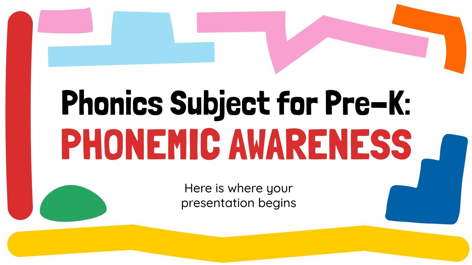 Phonics Subject for Pre-K: Phonemic Awareness presentation template