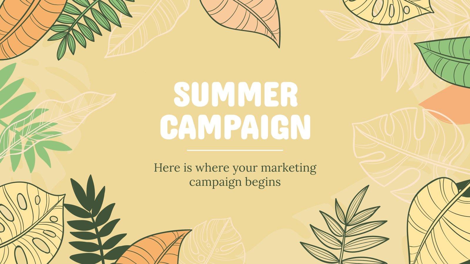 Sommer-Kampagne Präsentationsvorlage