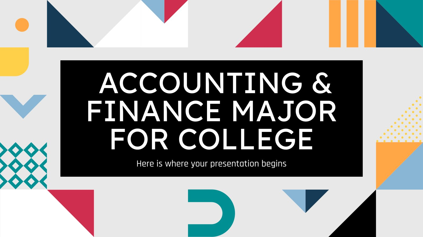 Accounting & Finance Major for College presentation template