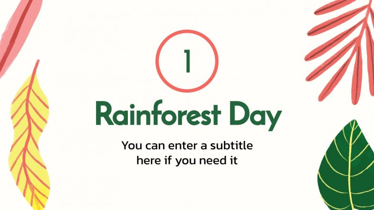 Weltregenwaldtag Präsentationsvorlage