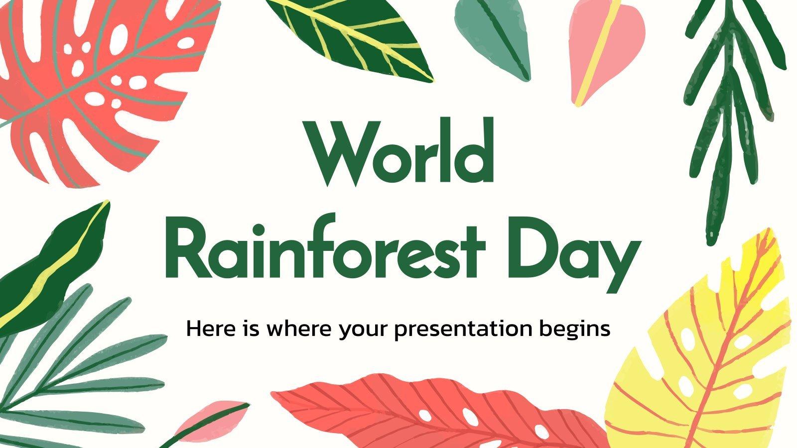 Journée mondiale des forêts tropicales : Modèles de présentation
