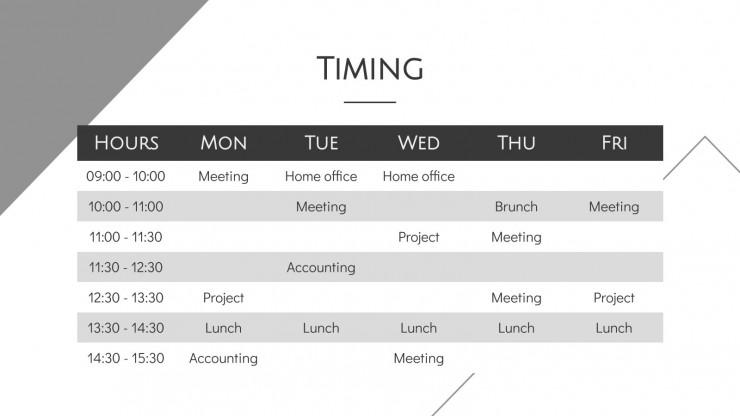 Minimalist Grayscale Pitch Deck presentation template