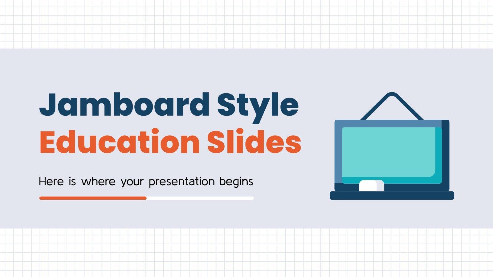 Jamboard Style Education Slides presentation template