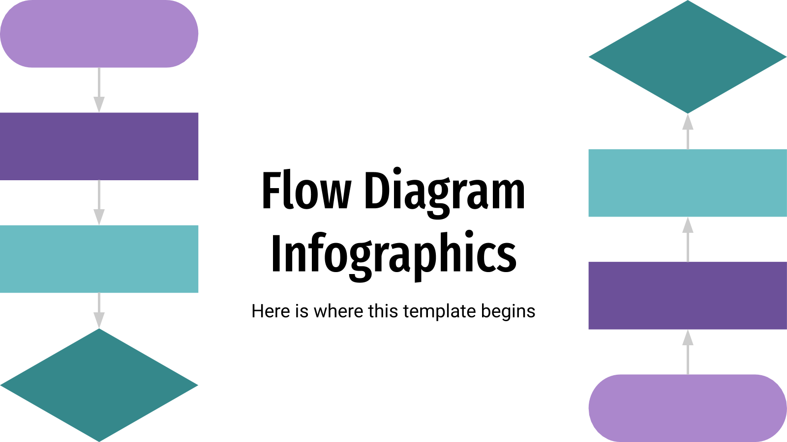 Flow Diagram Infographics presentation template