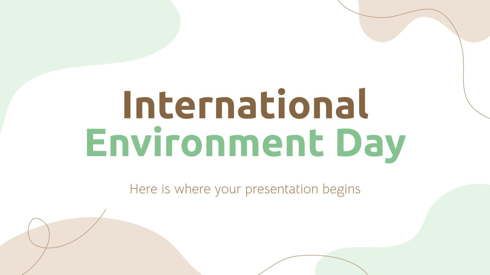 Weltumwelttag Präsentationsvorlage