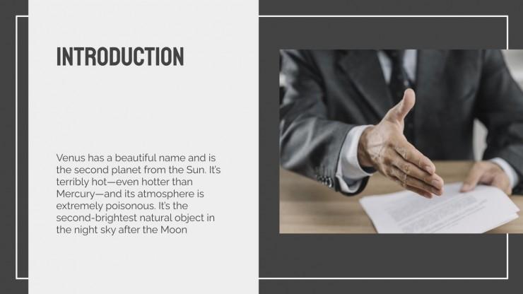Jura-Lektion Präsentationsvorlage