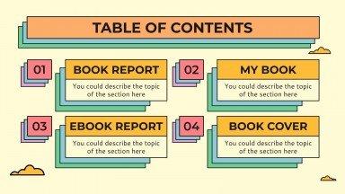 Bunter Buchbericht Präsentationsvorlage