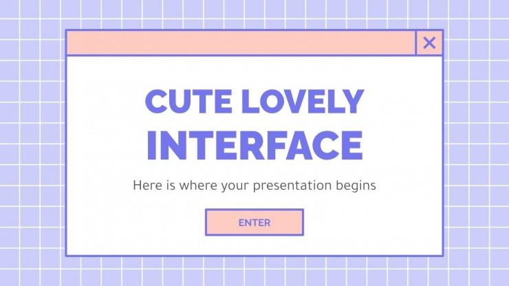 Niedlich Schönes Interface Präsentationsvorlage