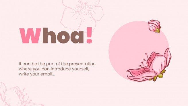 Inspirational Pink presentation template