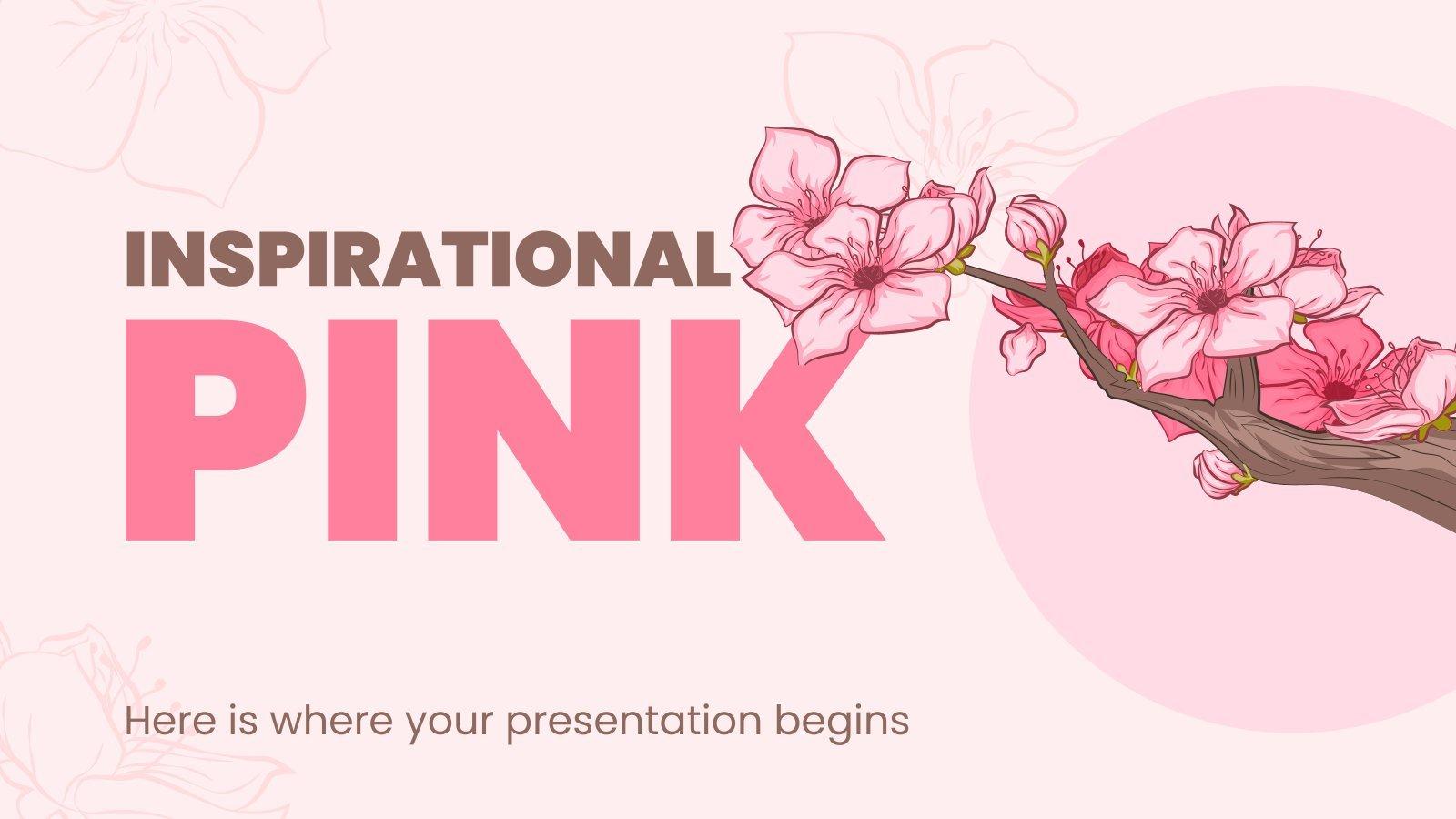 Inspirierendes Pink Präsentationsvorlage