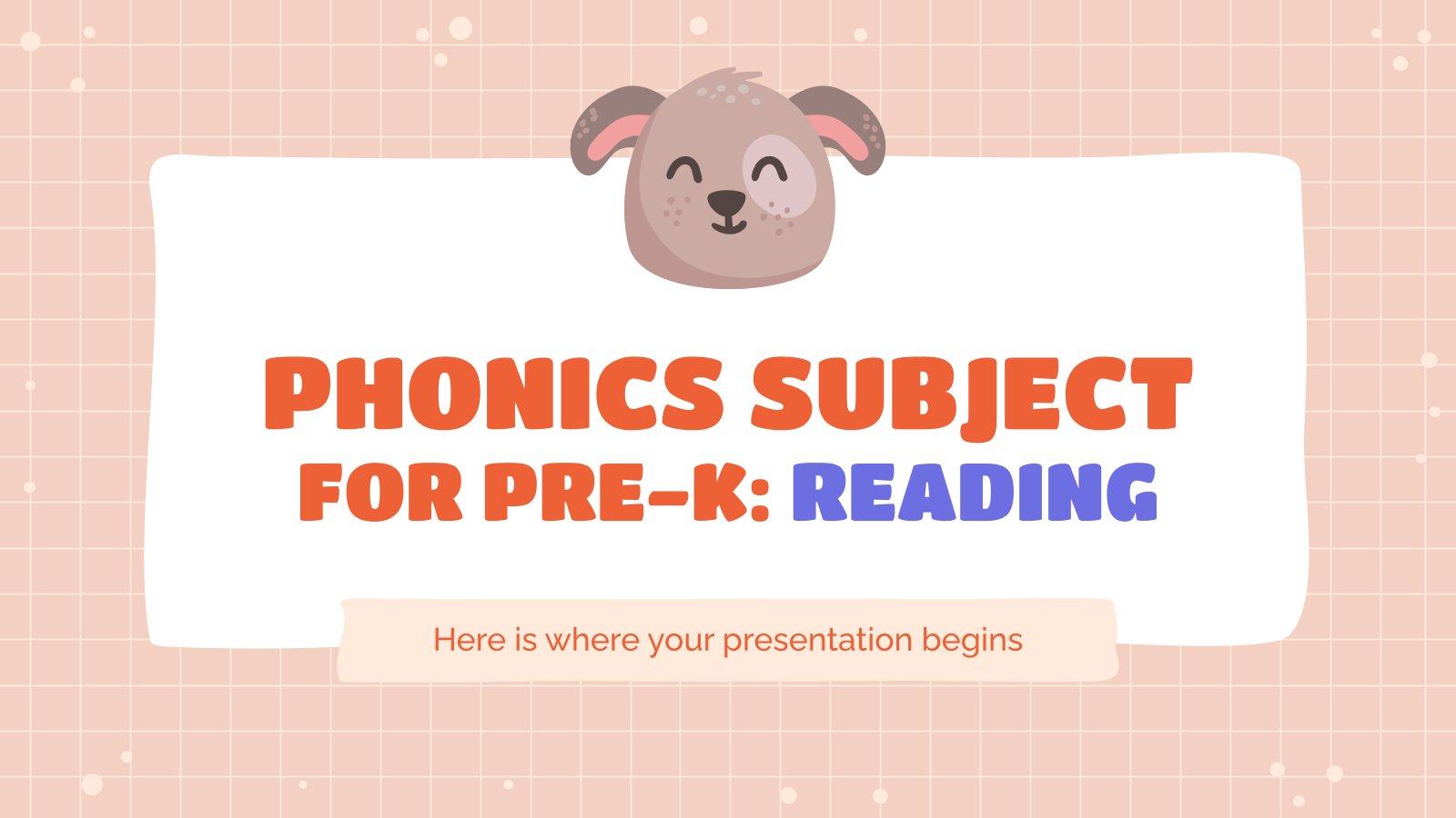 Plantilla de presentación Fonética para preescolar: Lectura