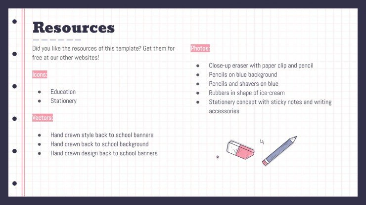 Rubber Eraser Planners for High School presentation template