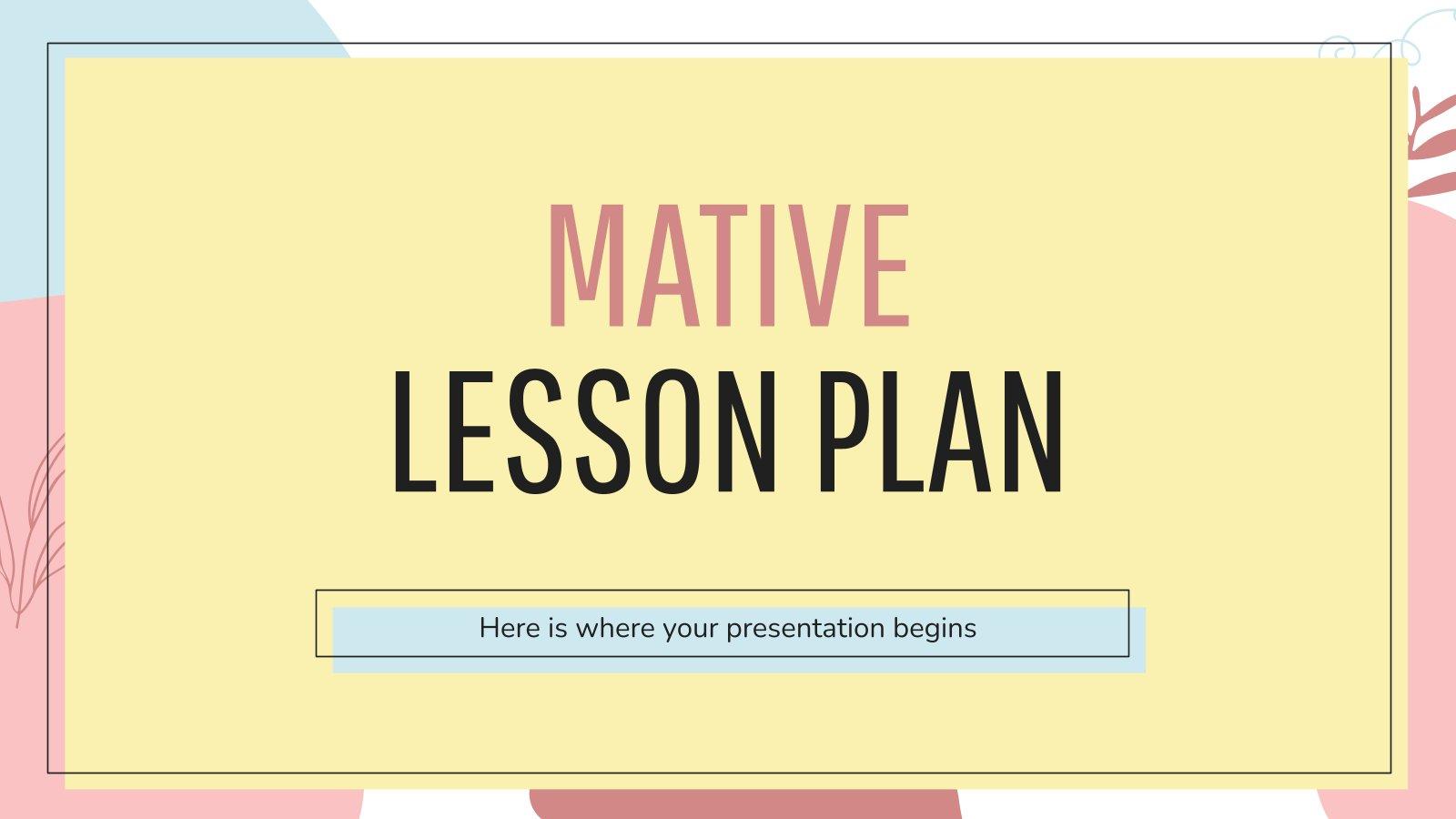 Mativer Unterrichtsplan Präsentationsvorlage
