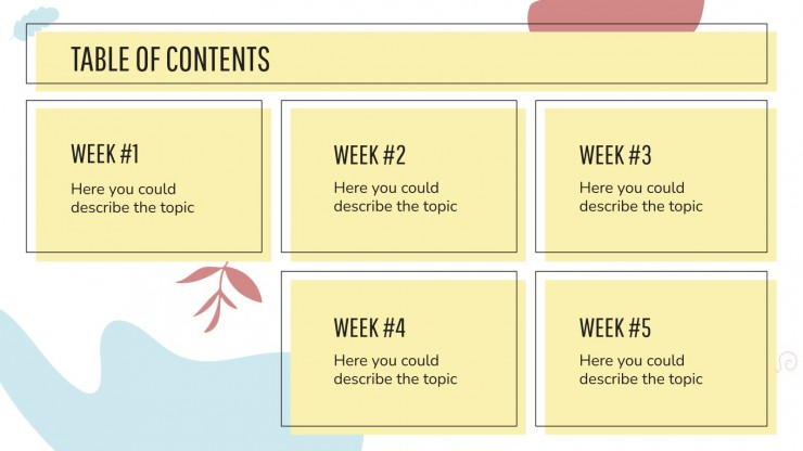 Plan de cours Mative : Modèles de présentation