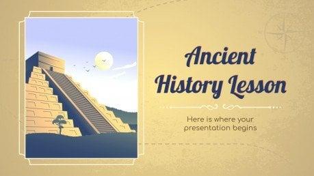 Modelo de apresentação Aula de história antiga