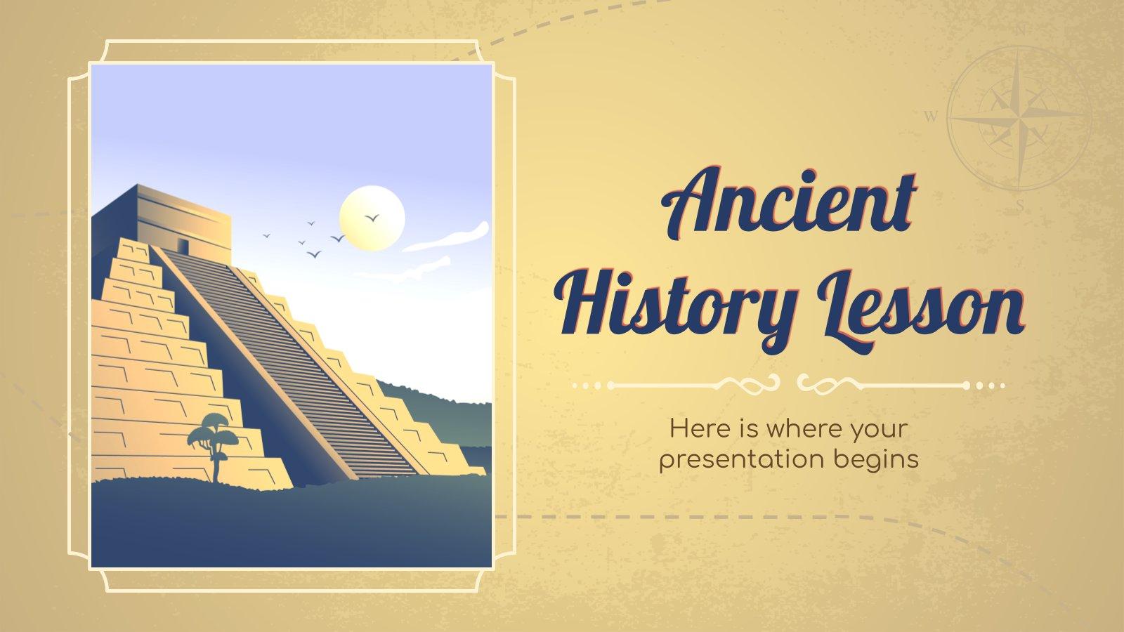 Plantilla de presentación Clase de historia antigua
