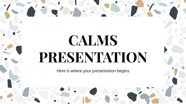 Modelo de apresentação Apresentação Calms