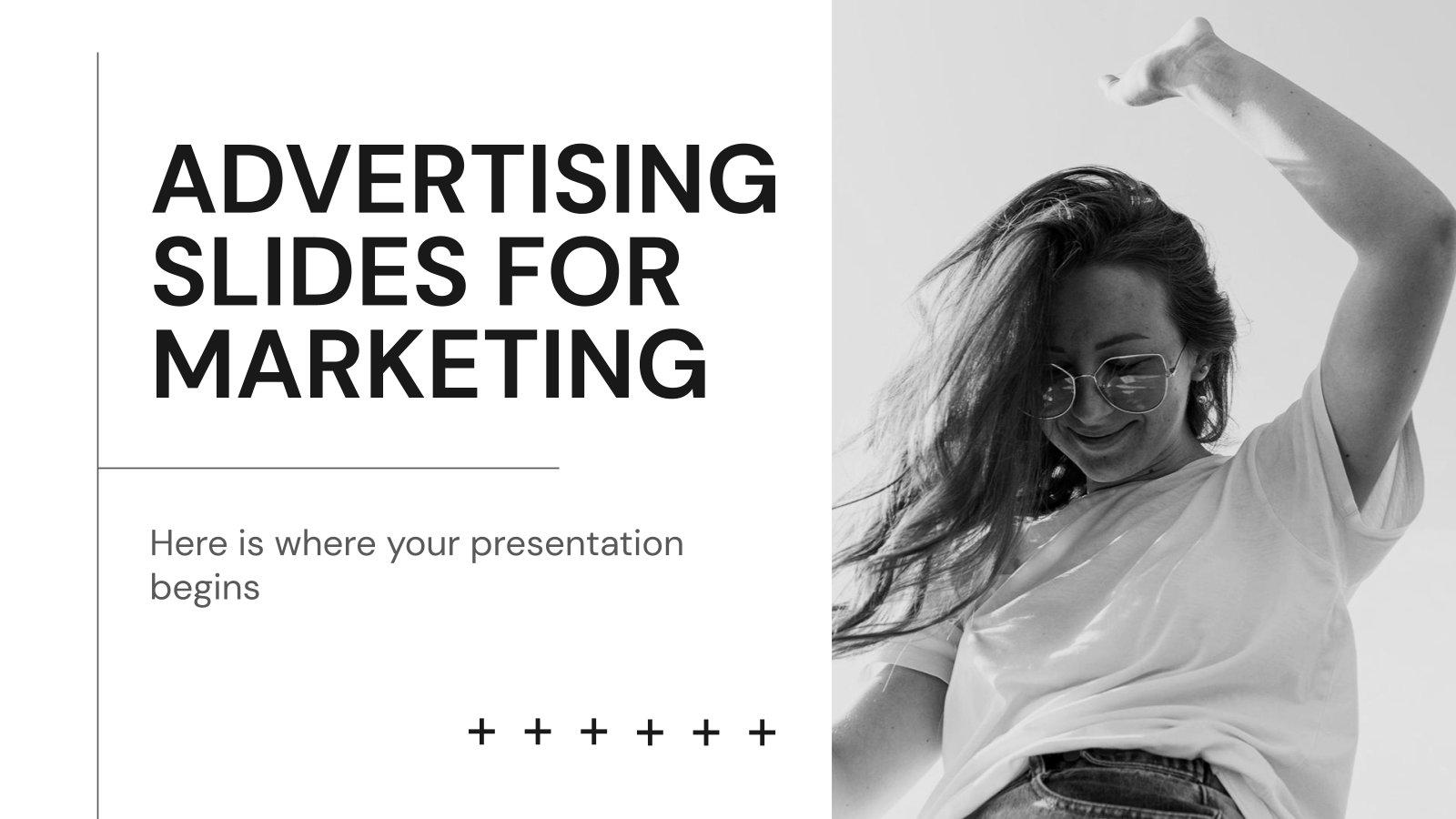 Werbefolien für Marketing Präsentationsvorlage