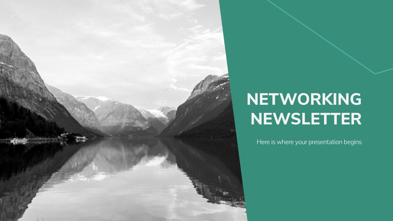 Netzwerk-Newsletter Präsentationsvorlage