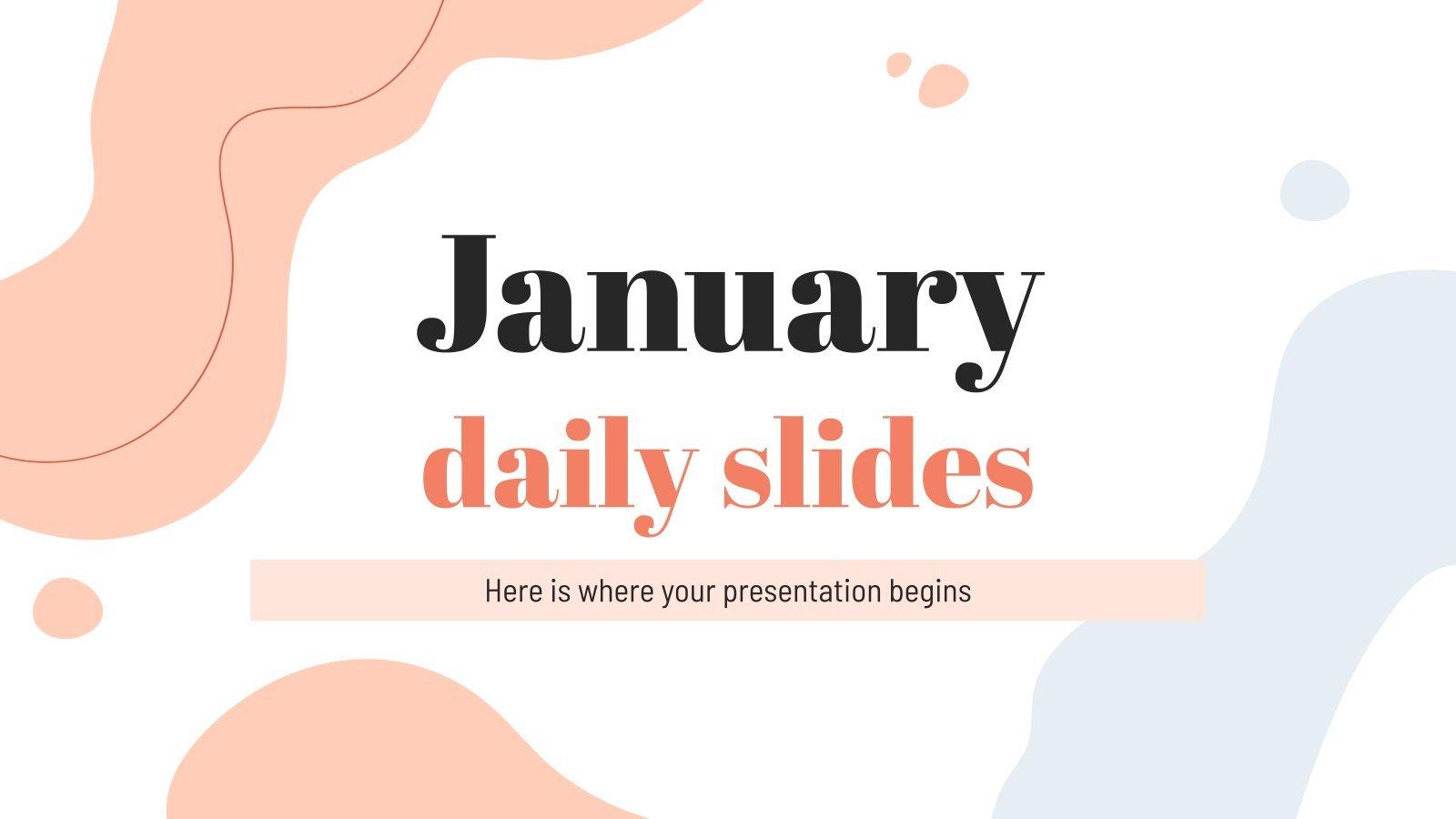 January Daily Slides presentation template