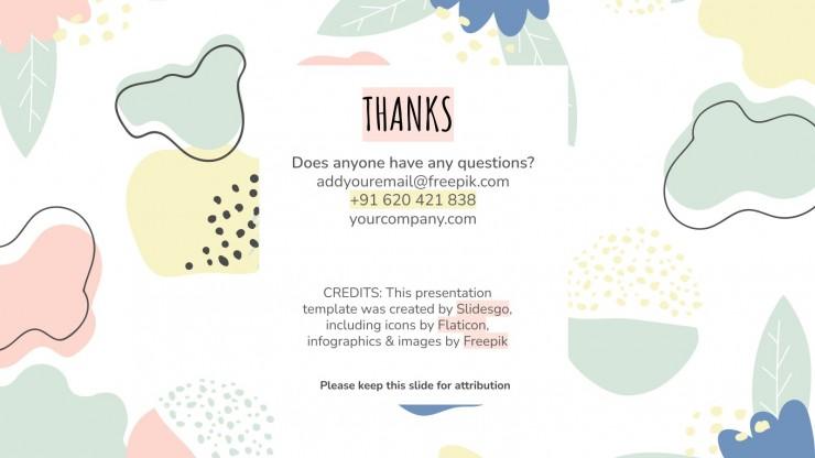 Floral Nonprofit Marketing Plan Präsentationsvorlage