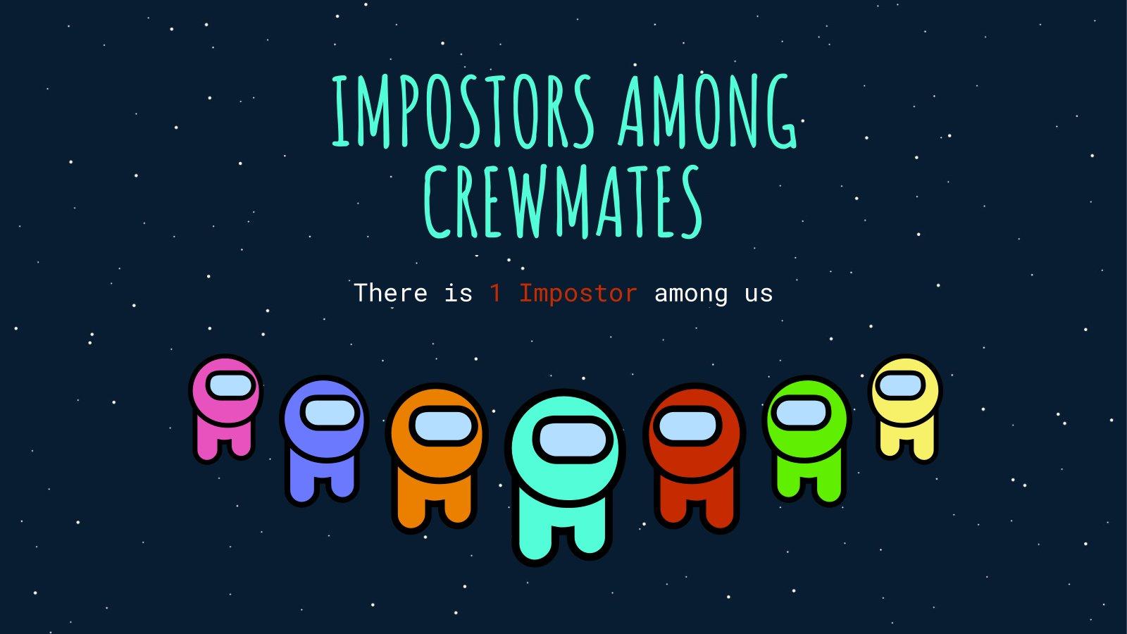 Betrüger unter Crewmitgliedern Präsentationsvorlage