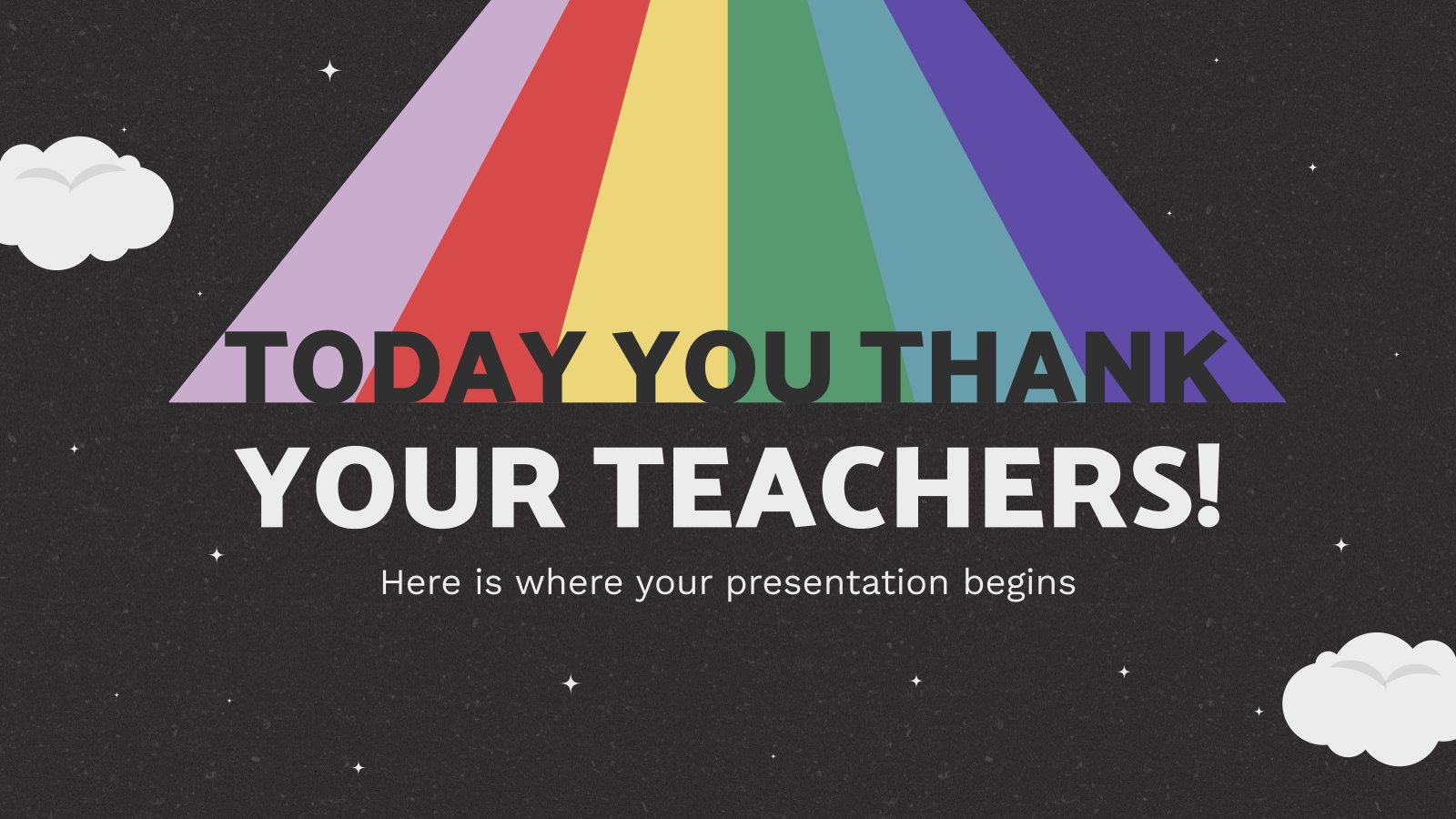 Today You Thank Your Teachers! presentation template