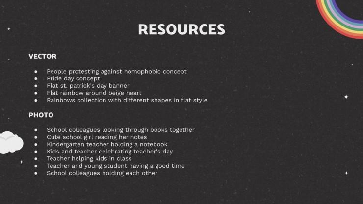 Remerciez vos professeurs ! : Modèles de présentation