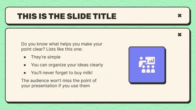 Little Pop-Up Windows Meeting presentation template