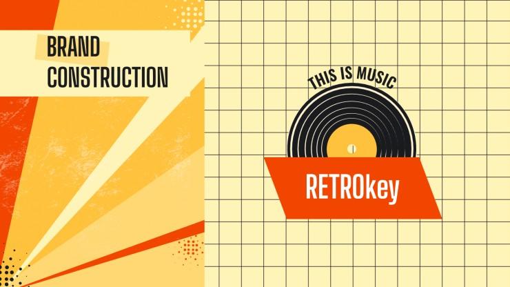 Retrokey Markenrichtlinien Präsentationsvorlage